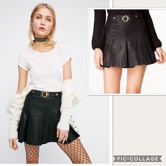 1a87c86b6071 NWT Free People But I Love It Vegan Mini Skirt